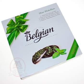 Belgian Конфеты шоколадные медальоны с мятной начинкой