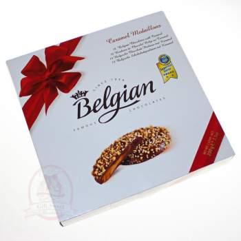 Belgian Конфеты шоколадные медальоны с карамельной начинкой