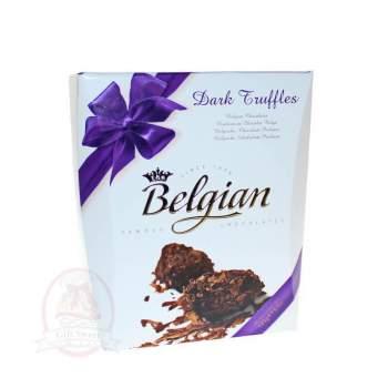 Belgian Конфеты Трюфели из горького шоколада в хлопьях
