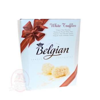 Belgian Конфеты Трюфели из белого шоколада в миндальных хлопьях