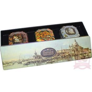 """Baraka подарочный набор трюфелей с цельным орехом ручной работы """"Венеция"""" ж/б"""