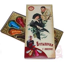 Старая Тула Конфеты Шоколадные Бутылочки с ликером 100г