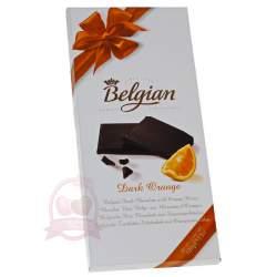 Belgian Шоколад горький с апельсином 100г