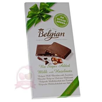 Belgian Шоколад молочный без сахара с фундуком