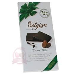 Belgian Шоколад горький с какао бобами 100г