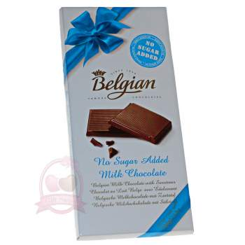 Belgian Шоколад молочный без сахара