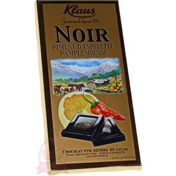 Klaus шоколад горький с перцем и грейпфрутом