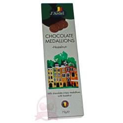 J'Ardel Медальоны из молочного шоколада с орехом 75г