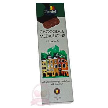 J'Ardel Медальоны из молочного шоколада с орехом