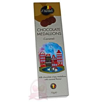 J'Ardel Медальоны из молочного шоколада с карамелью