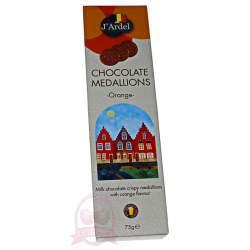J'Ardel Медальоны из молочного шоколада с апельсином 75г
