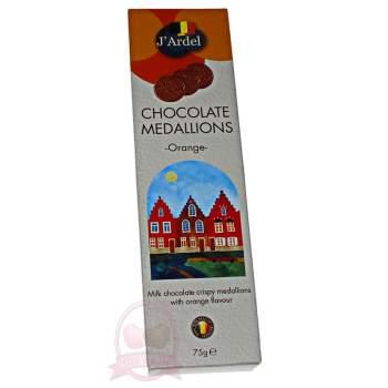 J'Ardel Медальоны из молочного шоколада с апельсином
