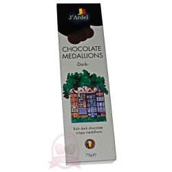 J'Ardel Медальоны из темного шоколада 75г
