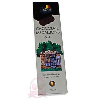 J'Ardel Медальоны из темного шоколада