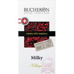 Bucheron Шоколад молочный малина 100г