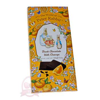 "Belgian Шоколад горький с апельсином ""Peter Rabbit"" зайчики"