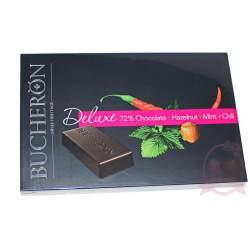 Bucheron Deluxe шоколад горький фундук мята перец 95г