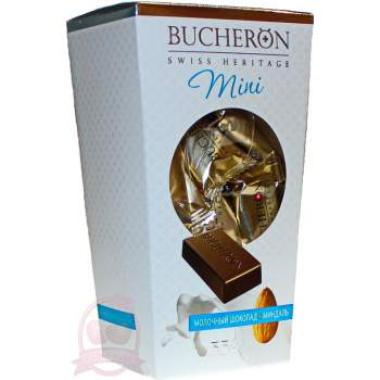 Bucheron шоколад мини молочный миндаль