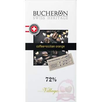 Bucheron Шоколад горький с зернами кофе и апельсином