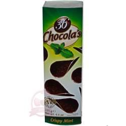 Hamlet хрустящие чипсы из темного шоколада с мятой 125г