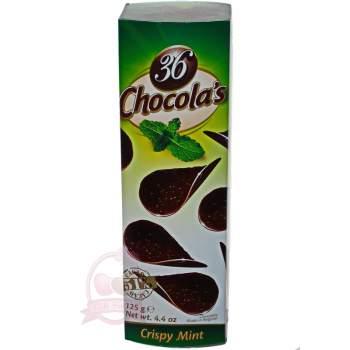Hamlet хрустящие чипсы из темного шоколада с мятой