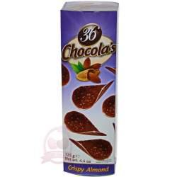 Hamlet хрустящие чипсы из молочного шоколада с миндалем 125г