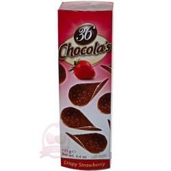 Hamlet хрустящие чипсы из молочного шоколада с клубникой 125г