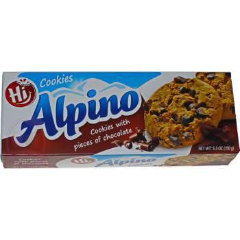 Alpino печенье с кусочками шоколада
