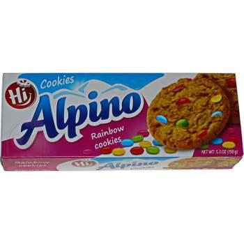 Alpino печенье радужная карамель