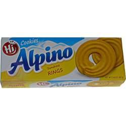 Alpino печенье сахарные кольца 160г