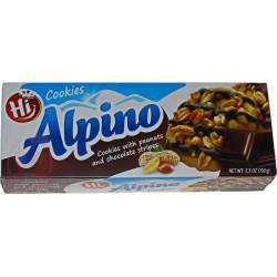 Alpino печенье с арахисом и темном шоколадом 150г