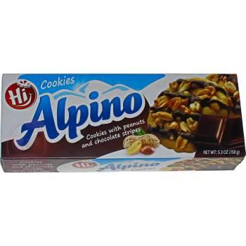 Alpino печенье с арахисом и темном шоколадом