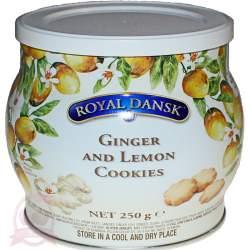 Royal Dansk печенье датское песочное с имбирем и лимоном 250г