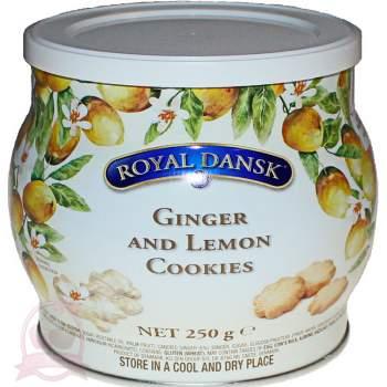 Royal Dansk печенье датское песочное с имбирем и лимоном