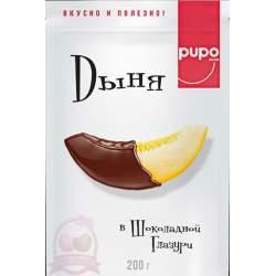 Pupo Фруктовый Десерт Дыня В Шоколадной Глазури 200г