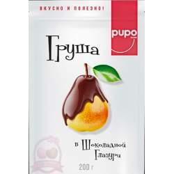 Pupo Фруктовый Десерт Груша В Шоколадной Глазури 200г