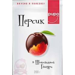 Pupo Фруктовый Десерт Персик В Шоколадной Глазури 200г