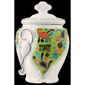 """Hilltop Чайница подарочная керамическая """"Слон зеленый"""""""