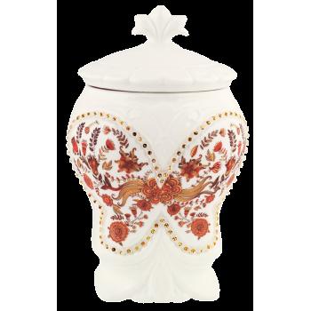 """Hilltop Чайница подарочная керамическая """"Цветочный орнамент"""" чай с чабрицом"""