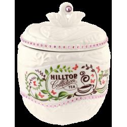 """Hilltop Чайница подарочная керамическая """"Цейлонское утро белое яблоко"""" 80г"""
