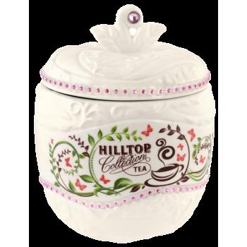 """Hilltop Чайница подарочная керамическая """"Цейлонское утро белое яблоко"""""""
