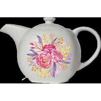 """Hyton Чайник подарочный керамический """"Пионы"""""""