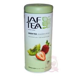 Jaf Tea Чай цейлонский зеленый байховый с ароматом клубники и киви 100г