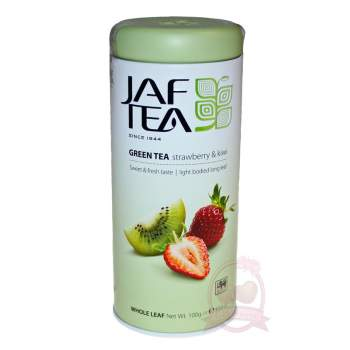 Jaf Tea Чай цейлонский зеленый байховый с ароматом клубники и киви