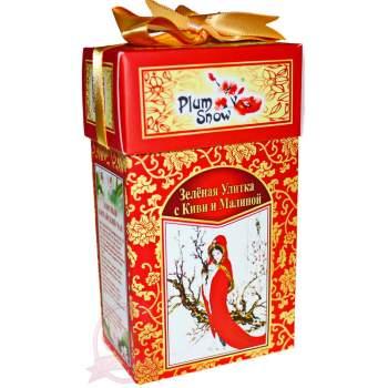 """Plum Snow Чай Китайский элитный """"Зеленая улитка с киви и малиной"""""""